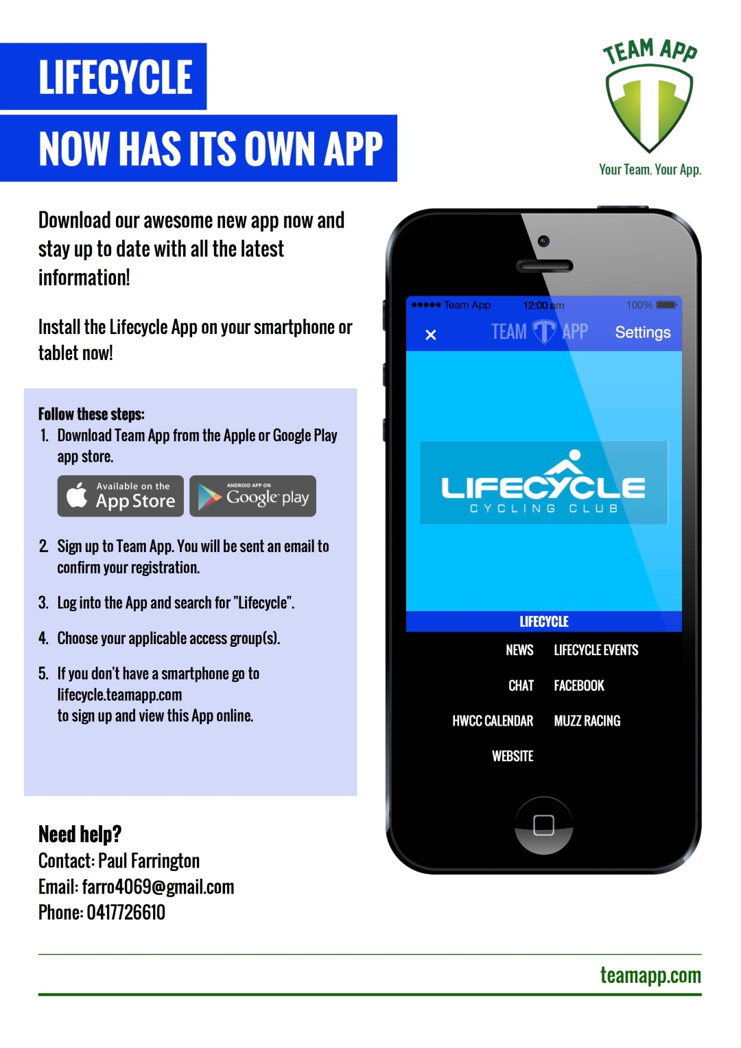 Team App Brochure