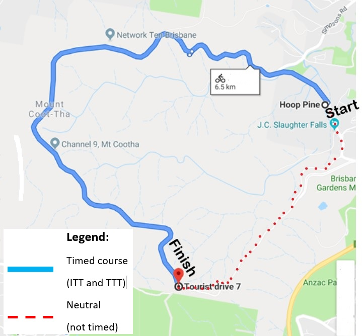 Time Trial Course map